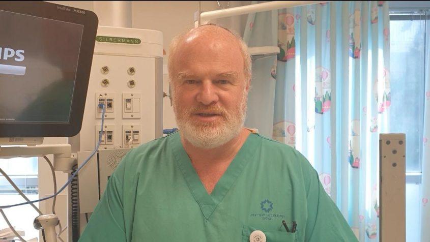 """ד""""ר ז'אק בראון, מנהל היחידה לטיפול נמרץ ילדים (צילום: שערי צדק)"""