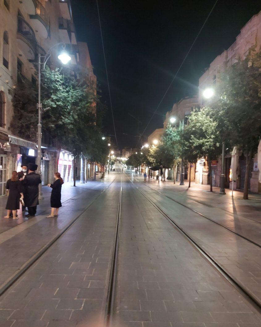 """רחוב יפו, ערב ראש השנה תשפ""""א (צילום: יפעת ראובן)"""