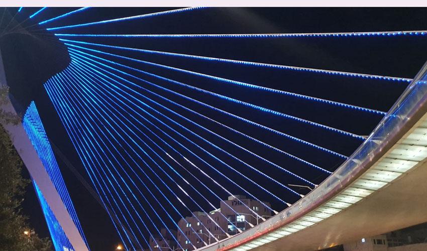 גשר המיתרים החדש (צילום: דוברות העירייה)