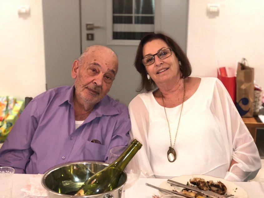"""עדנה עזריאלי ומולי עזריאלי ז""""ל, מבעלי מסעדת """"פינק"""" המיתולוגית (צילום: אלבום משפחתי)"""