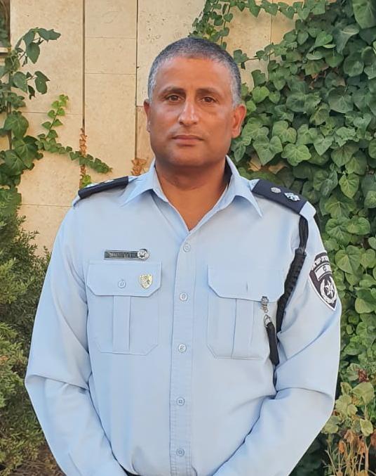 סגן ניצב דקר אשל, מפקד תחנת הראל (צילום: דוברות המשטרה)