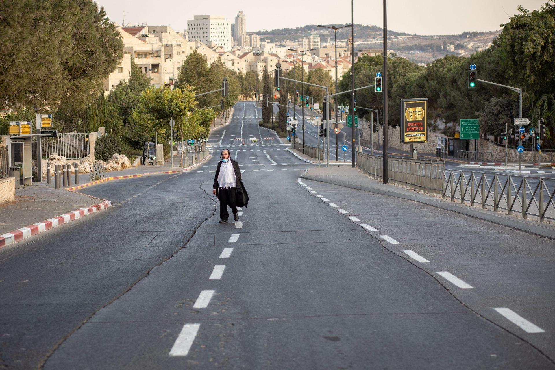 סגר ראש השנה בירושלים (צילום: אמיל סלמן)
