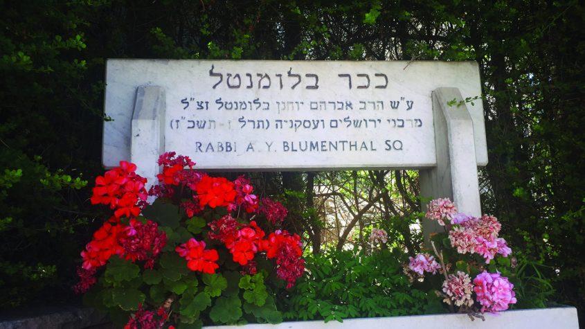 """הכיכר לזכרו של הרב בלומנטל (צילום: ד""""ר אדם אקרמן)"""