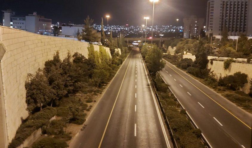"""כביש בגין, ערב ראש השנה תשפ""""א (צילום: יפעת ראובן)"""