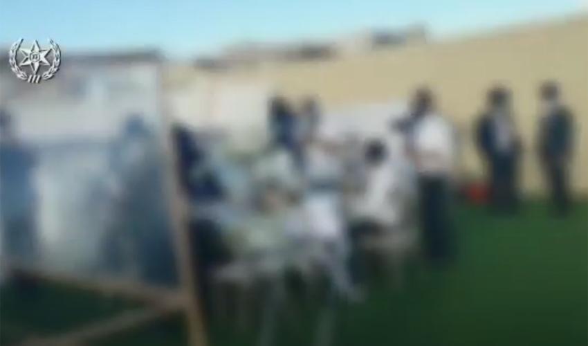 מתוך תיעוד המשטרה של החתונה בבית שמש (צילום: דוברות המשטרה)