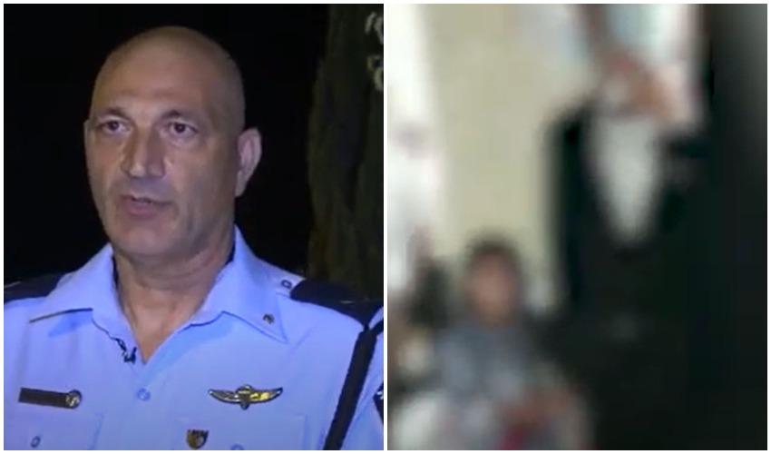 מתוך תיעוד ממצלמות הגוף של השוטרים בחתונה בגבעת זאב, תת ניצב עופר שומר (צילומים: דוברות המשטרה)