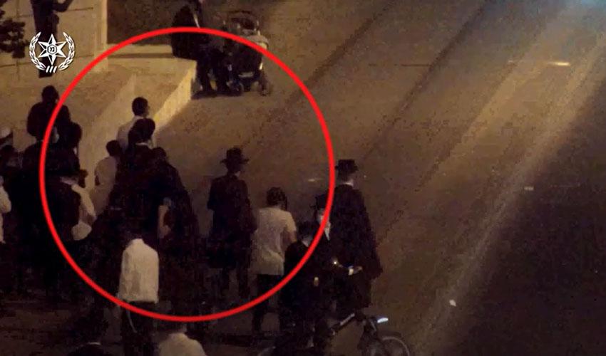 תיעוד ההתפרעויות במאה שערים (צילום: דוברות המשטרה)