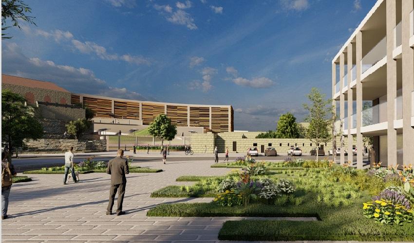 """מלון חדש באבו גוש (הדמיה: גיאו בן גור אדריכלות בע""""מ)"""