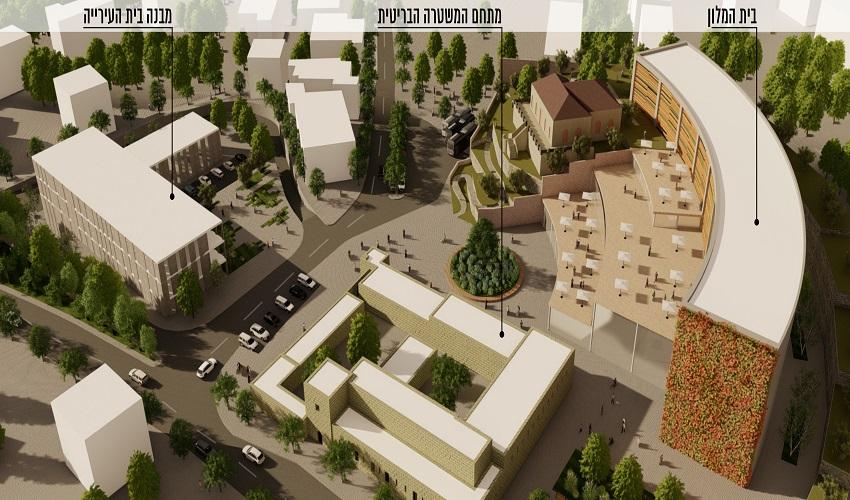 """מיקום המלון החדש באבו גוש (הדמיה: גיאו בן גור אדריכלות בע""""מ)"""