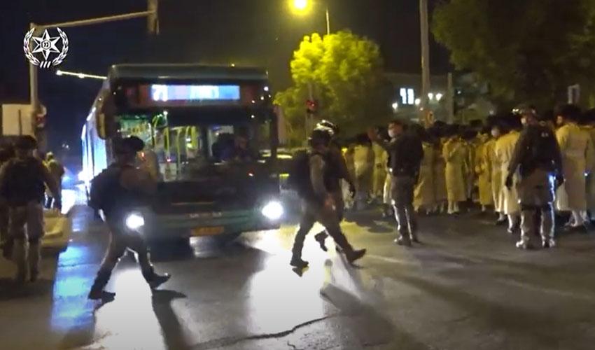 תיעוד ממסע הלוויה (צילום: דוברות המשטרה)