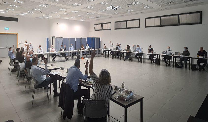 אולם מועצת עיריית מודיעין (צילום: דוברות עיריית מודיעין מכבים רעות)