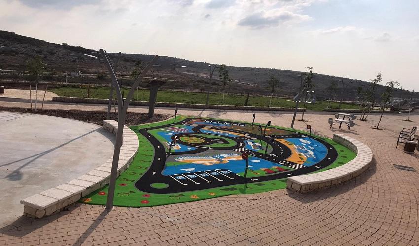 מסלול הילדים בפארק שכונת נופים (צילום: דוברות עיריית מודיעין)