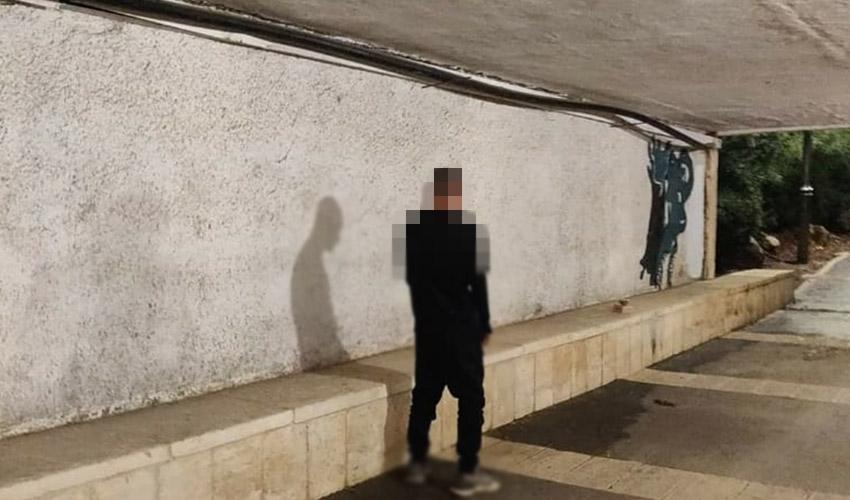 החשוד במנהרה המחברת בין עמק המצלבה לבין גן סאקר, כפי שצולם על ידי האישה המתלוננת (צילום: פרטי)