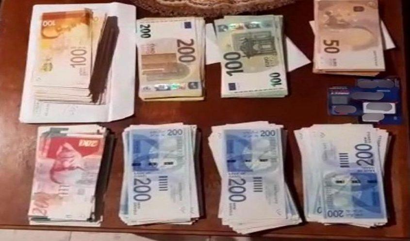 הכסף שנגנב לזוג ניצולי השואה (צילום: דוברות המשטרה)
