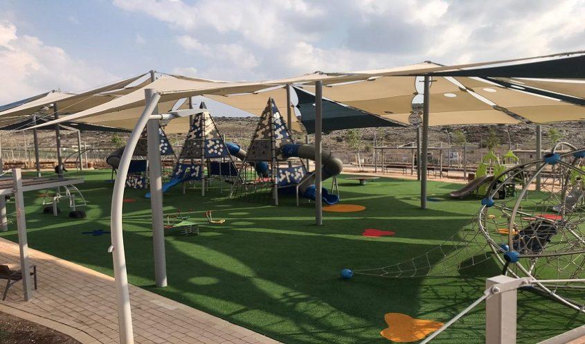 הפארק החדש בשכונת נופים (צילום: דוברות עיריית מודיעין)