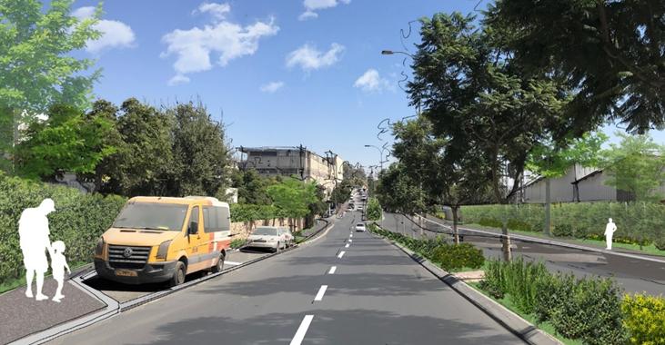 רחוב עטרות באזור התעשייה החדש (הדמיה: באדיבות מוריה)