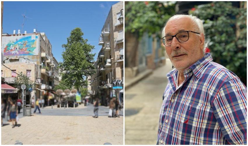 """אלי לוי יו""""ר ועד סוחרי מרכז העיר, מרכז העיר (צילומים: ארנון בוסאני, עמית רפאל- מטאפורה)"""
