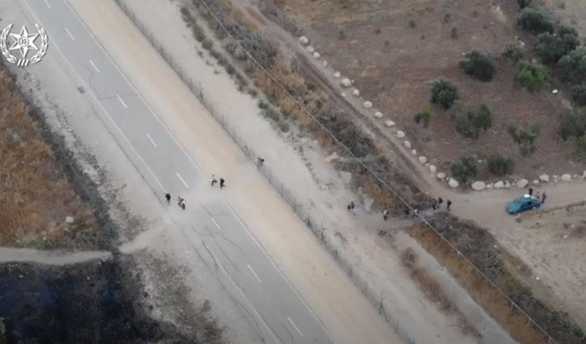 מתוך מבצע המשטרה במודיעין לאיתור שוהים בלתי חוקיים (צילום: דוברות המשטרה)
