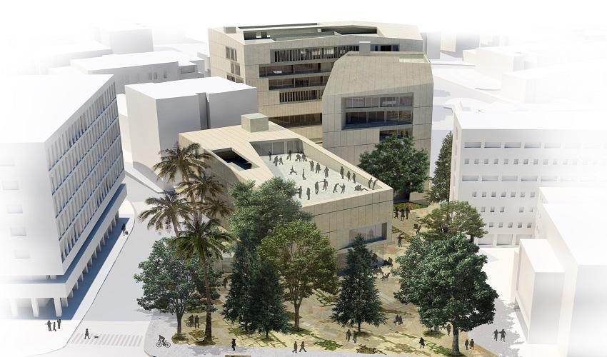 מתחם קמפוס ירושלים לאומנויות (הדמיה: אפרת - קובלסקי אדריכלים, באדיבות חברת עדן)