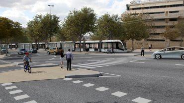 הקו הזהוב - בנק ישראל (הדמיה: תוכנית אב לתחבורה ירושלים)