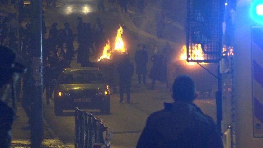 """המחאה נגד מותו של הנער אהוביה סנדק ז""""ל (צילום: דוברות המשטרה)"""