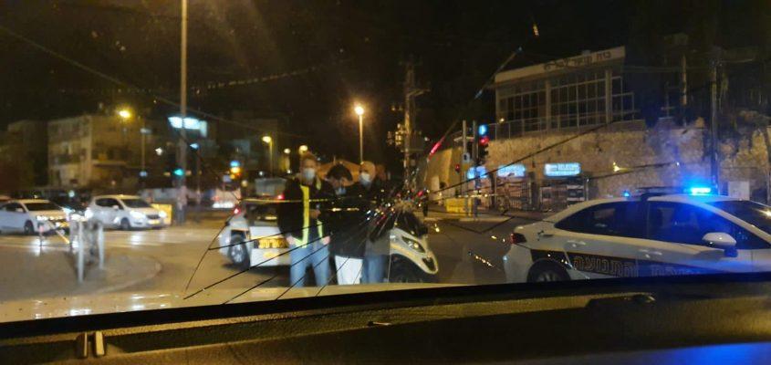 התפרעויות החרדים נגד עבודות הרכבת הקלה בבר אילן (צילום: דוברות המשטרה)