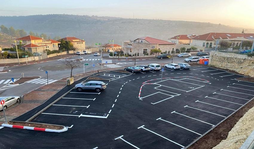 חניון ציבורי חדש בשכונת רכס חלילים (צילום: דוברות מועצת מבשרת ציון)