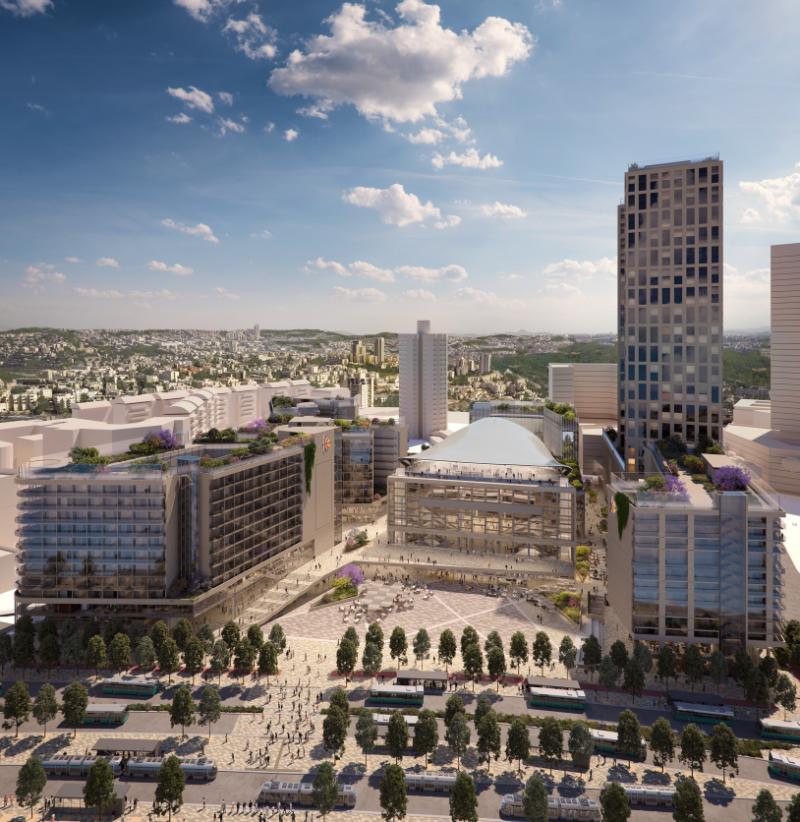 תוכנית פיתוח בנייני האומה (קרדיט: מיקו ארדיטי- GAB Architects + POPULOUS Architects)