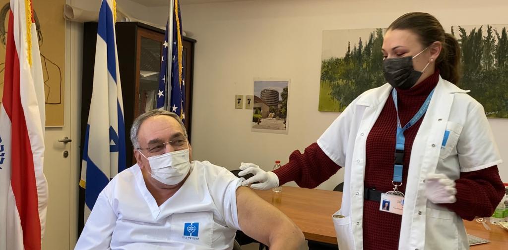 """ראש צוות המרכז למחקר קליני ד""""רחנה דרורי ומנכ""""ל הדסה פרופ' זאב רוטשטיין (צילום: דוברות הדסה)"""