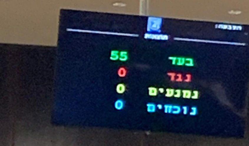 """ההצבעה במליאה על הצעת החוק של ח""""כ גדעון סער"""
