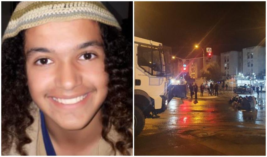 """המחאה נגד מותו של הנער, אהוביה סנדק ז""""ל (צילומים: דוברות המשטרה, באדיבות המשפחה)"""