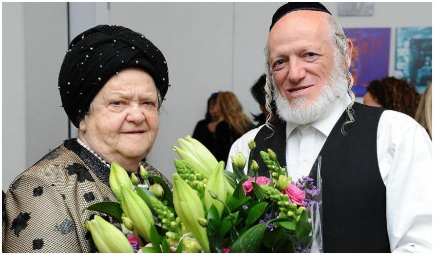 """יהודה משי זהב ואימו שרה זיסל ז""""ל (צילום: מנדי הכטמן)"""