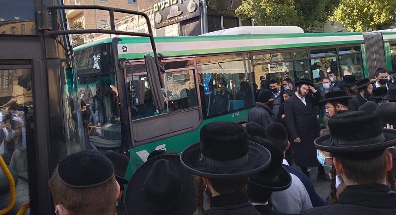 המחאה בכיכר השבת (צילום: מחאות החרדים הקיצוניים)