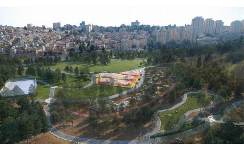 גן סאקר לאחר ביצוע הפרויקט (קרדיט הדמיה: מתוך מצגת של מינהל קהילתי 'לב העיר')