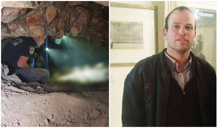 """יעקב דיסקין ז""""ל, המקום שבו נמצאה גופתו בליפתא (צילומים: באדיבות המשפחה, דוברות המשטרה)"""