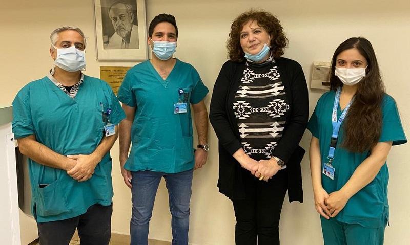 טטיאנה וצוות הדסה (צילום: המרכז הרפואי הדסה)