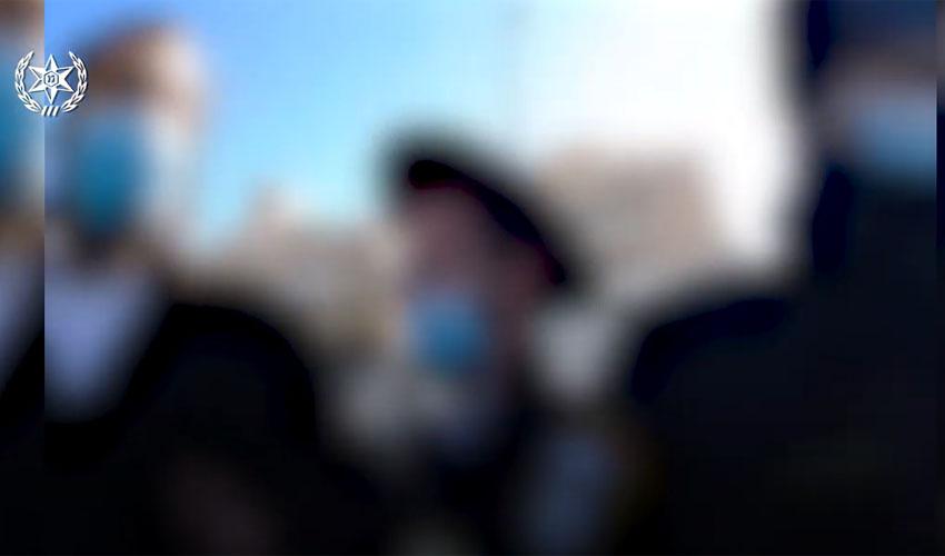 מתוך סרטון שמתעד את הפרות סגר הקורונה בבית שמש (צילום: דוברות המשטרה)