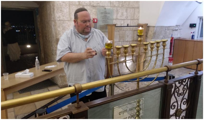 """שלומי קולמן ז""""ל (צילום; קבר שמואל הנביא)"""