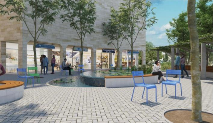 מרכז מסחרי פסגת זאב (הדמיה: שרון אברמסון אדריכלות ועיצוב)