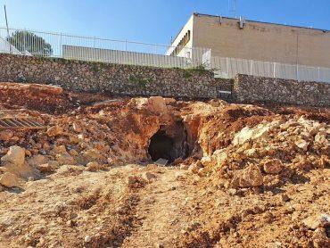 בור המים שבו התגלה הרימון (צילום: עיריית ירושלים)
