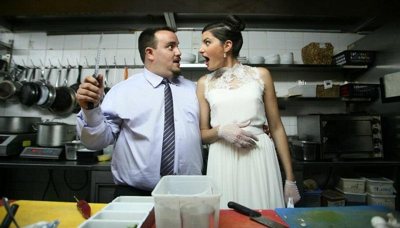 יותם וטל בר ביום חתונתם (צילום: דודי כחלון)