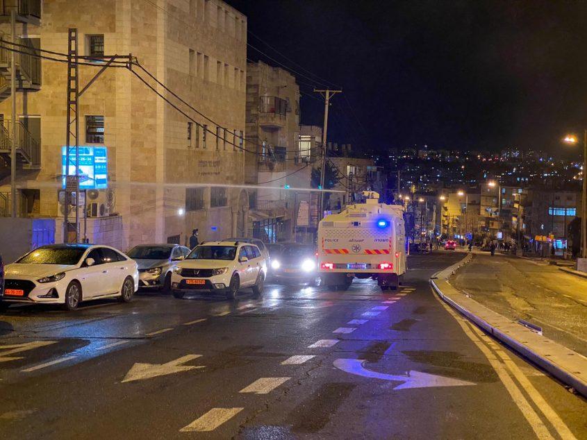 התפרעויות בבר אילן (צילום: דוברות המשטרה)