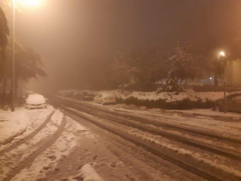 רמת שרת בשלג (צילום: דודו בן אור)