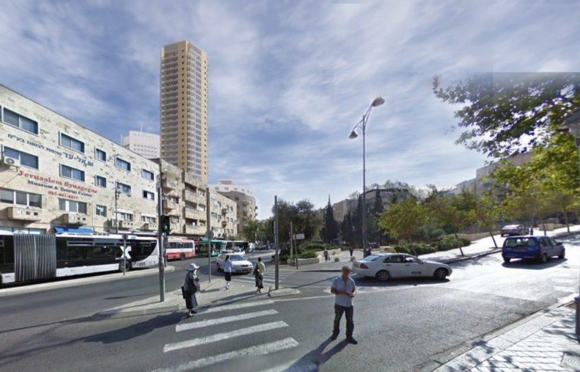 המגדל המתוכנן במתחם פזגז (הדמיה: מתוך מצגת שהוצגה לתושבים)