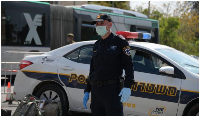 אכיפת סגר הקורונה (צילום: דוברות המשטרה)