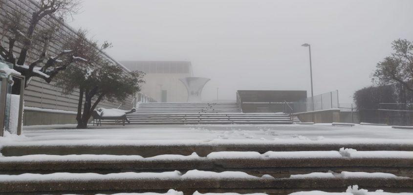 מוזיאון ישראל בשלג (צילום: רפאל שפיצר, באדיבות מוזיאון ישראל בירושלים)