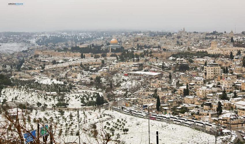 שלג בירושלים, 2021 (צילום: ארנון בוסאני)