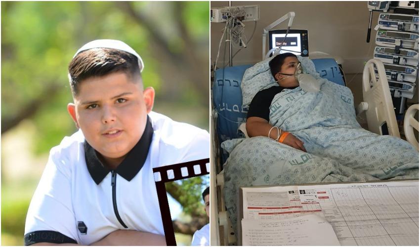 (מימין) נועם אביכזר במחלקת הקורונה, נועם אביכזר (צילומים: באדיבות המשפחה)