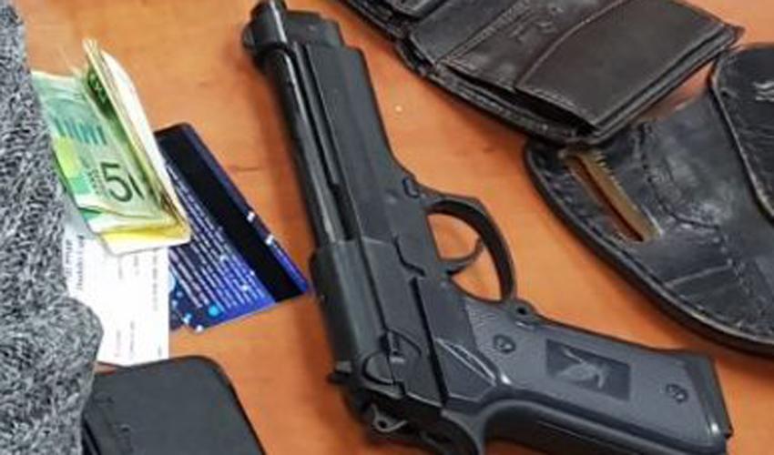 אקדח (צילום אילוסטרציה: דוברות המשטרה)