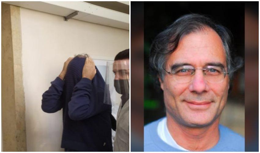 יובל כרמי, כרמי בעת הארכת מעצרו בבית משפט השלום בירושלים (צילום: מתוך פייסבוק, שלומי הלר)